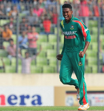 Al Amin Hossain - Economical bowling figures of 2-17