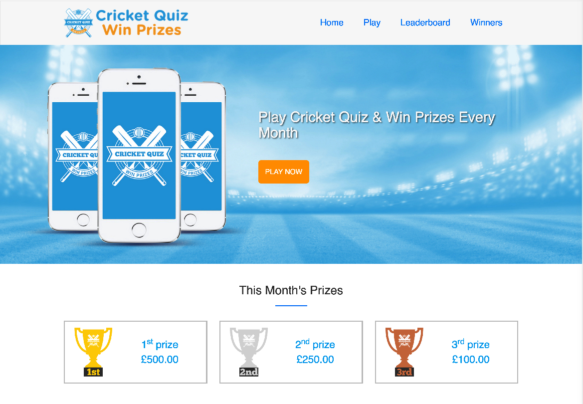 Play quiz cricket win prizes