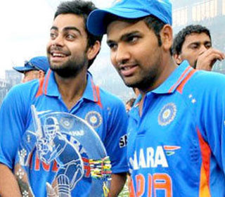India's No. 6 Contenders - Virat Kohli and Rohit Sharma