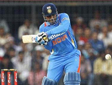 Virender Sehwag's 219 runs against West Indies is the highest ODI score.