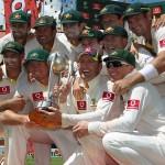 Australia Cricket Team With Border–Gavaskar Trophy