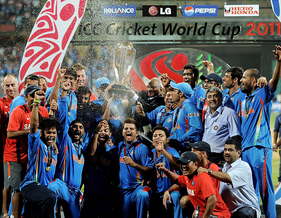 Indian Cricket Team after their historic World Cup Win