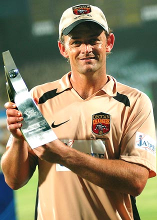 Deccan Chargers Captain Adam Gilchrist With IPL 2009 Trophy