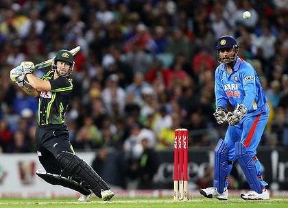 Matthew Wade Blast off 72 runs against India in the first T20 Cricket Match