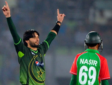 Shahid Afridi - 'Player of the match' in the Asia Cup 2012