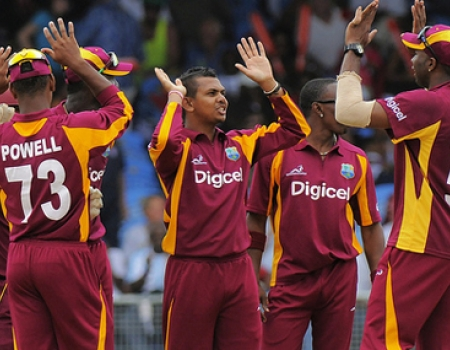 the Jubilant West Indians after beating Australi in second ODI