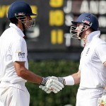 Andrew Strauss and Alastair Cook - solid opening stand of 122 runs
