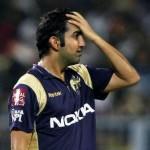 Gautam Gambhir - unhappy with the performance of the middle order batsmen