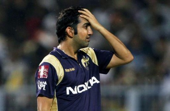 Gautam Gambhir - unhappy with the performance of the middle order batsmen