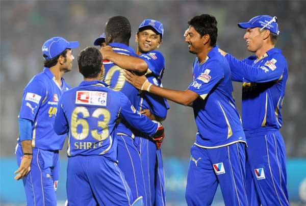 The jubilant Rajasthan Royals - Better team work crushed Kolkata Knight Riders