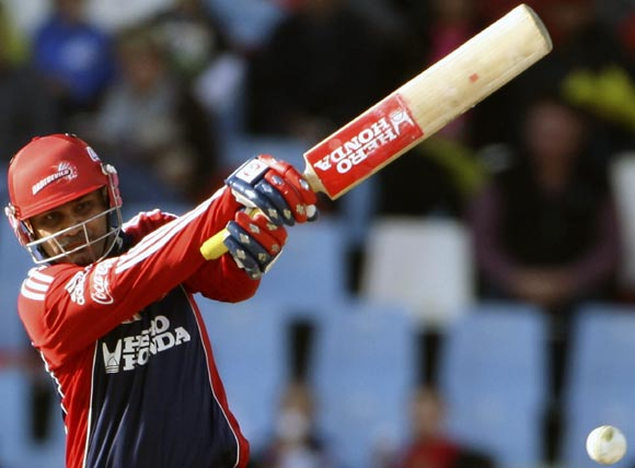 Virender Sehwag - Led from the front by hammering unbeaten 87 off 48 balls