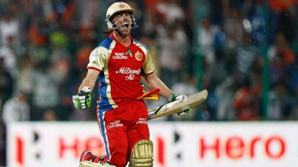 AB de Villiers - 'Player of the match' for his fiery knock of 47 from 17 balls.
