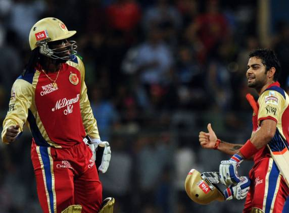 Chris Gayle and Virat Kohli - A match winning unbroken partnership of 204 runs