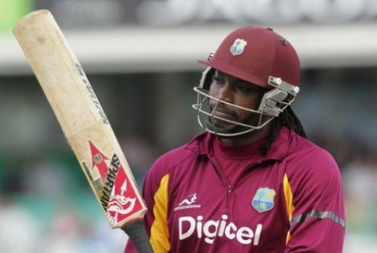 Chris Gayle - Butchered the New Zealand bowling by smashing unbeaten 85 off 52 balls