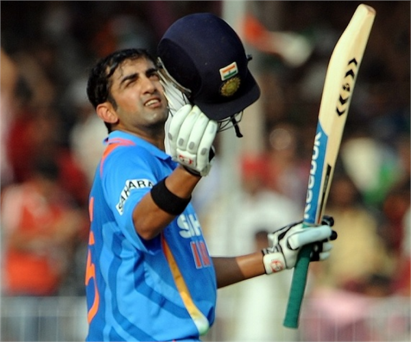 Gautam Gambhir - Player of the match for his superb ton