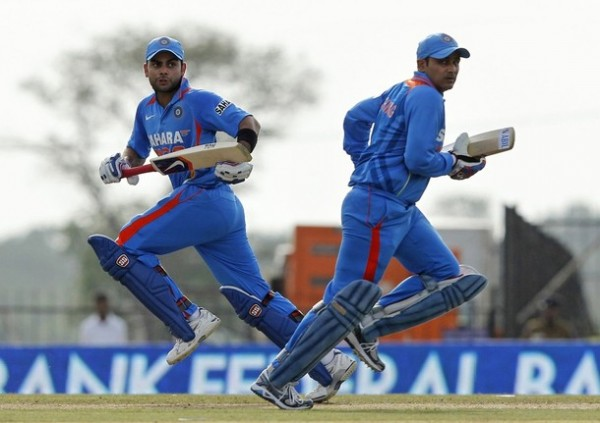 Virat Kohli and Virender Sehwag - A match winning partnership of 173 runs