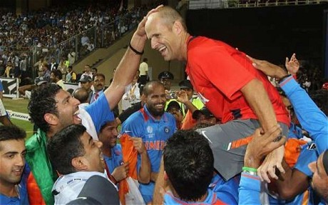 India pays tribute to Kirsten after their World Cup 2011 win