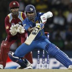 Mahela Jayawardene - The skipper led from the front by smashing unbeaten 65 runs