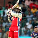 Chris Gayle strikes vs. Kolkata Knight Riders