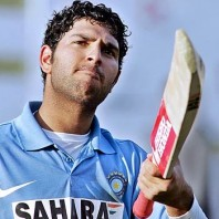 Yuvraj-Singh - A sparkling unbeaten knock of 77 from 35 mere deliveries
