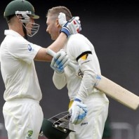 Brad Haddin and Michael Clarke - Soild tons in the first innings