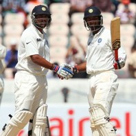 Cheteshwar Pujara and Murali Vijay - An unbroken second wicket partnership of 140 runs